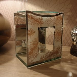 rose gold feather pattern wax burner